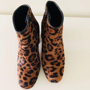 Zara leopard pony boots